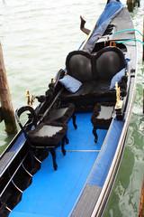 Interno della gondola veneziana