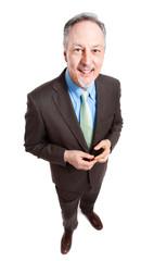 Smiling businessman full length