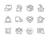 Shipping icons - 62617149