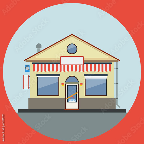 Shop flat vector illustration