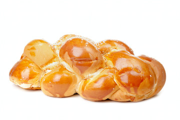 Lonely light braided challah with seeds