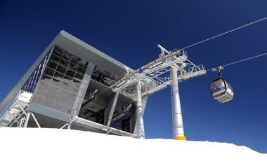 Modern cableway in ski resort Jasna - Low Tatras mountains, Slov