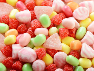 colorful candy closeup background