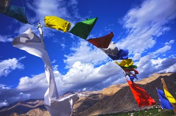 Prayer flags in Leh,Ladakh