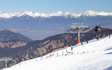 Modern cableway FUNITEL in ski resort Jasna - Low Tatras mountai