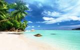 Fototapety beach on Mahe island, Seychelles