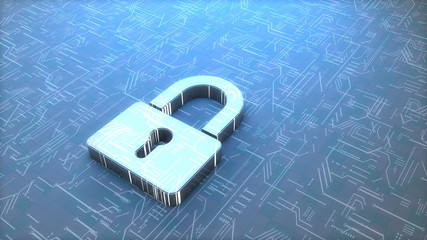 Digital padlock.