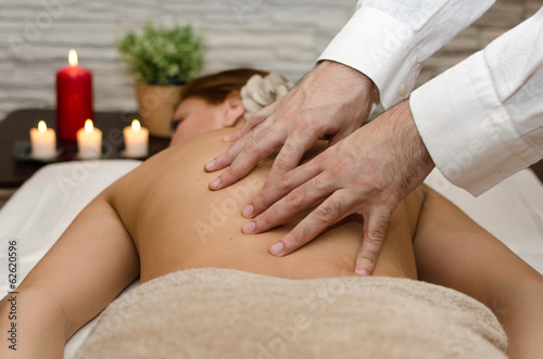 Massage at spa during a beauty treatment