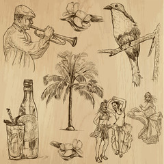 CUBA_3. Set of hand drawn illustrations into vectors