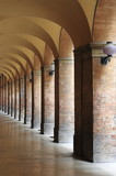 Colonnade in Urbino, Italy