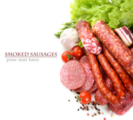 smoked meat and sausage