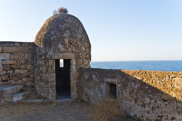 Fortezza fortress watchtower, Rethymno, island of Crete