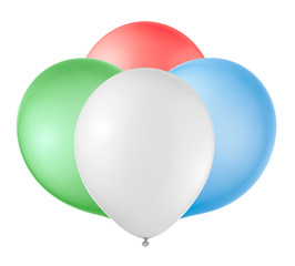Balloons on a white background.