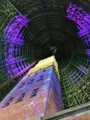 shot tower melbourne during whitnight festival