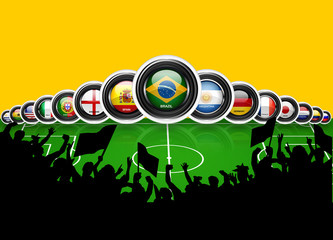 World Cup Brazil 2014 flags countries