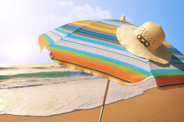 Sunshade and Straw Hat