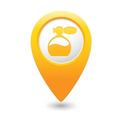 Map pointer with perfume icon