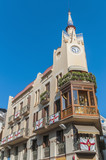Modernist building at Sitges, Spain poster