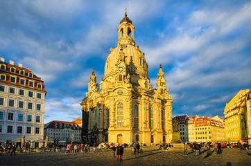 Frauenkirche im Abendlicht, Dresden