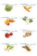 水中の野菜