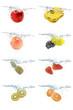 水中のフルーツ