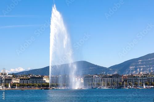 Leinwandbild Motiv Geneva water fountain