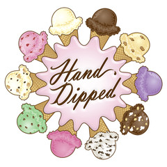 Hand Dipped Ice Cream Design