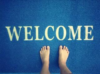 Doormat and foot