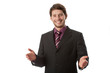 Smiling and open businessman