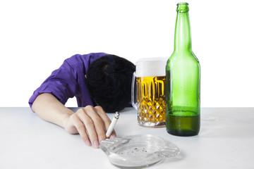 Alcohol and smoking addiction 1