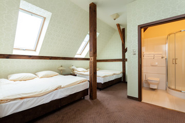 Wooden addition in a shared room