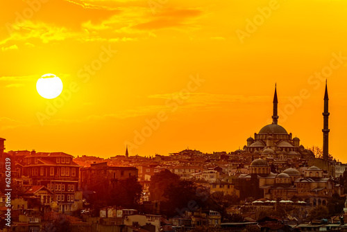 In de dag Turkey Istanbul sunset