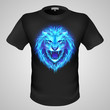 Male t-shirt with lion print.