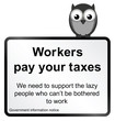 comical Government pay your taxes sign