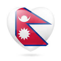 Heart icon of Nepal