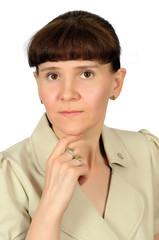 Portrait of a European middle-aged women