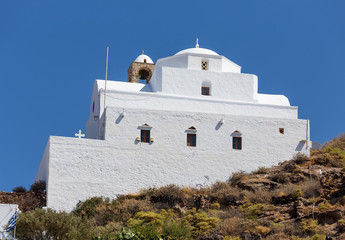 Panagia Thalassitra church, Milos island, Cyclades, Greece