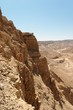 Masada cliff and surrounding desert near the Dead Sea in Israel