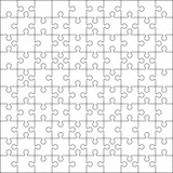 100 Jigsaw puzzle blank template or cutting guidelines