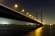 Leinwandbild Motiv duesseldorf rheinknie bridge at night