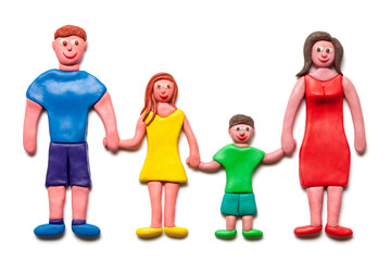 My happy plasticine family.