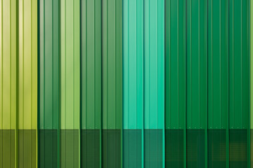 green metal siding