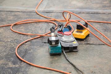 Stromverteilung auf einer Baustelle