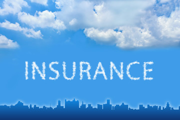 Insurance text on cloud
