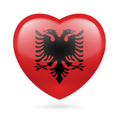 Heart icon of Albania
