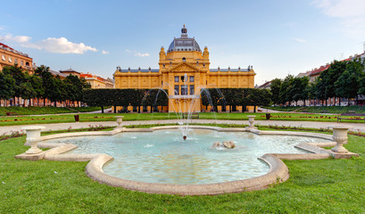 Art pavillion in Zagreb. Croatia