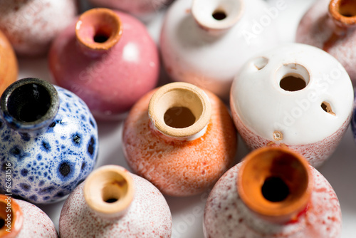 ceramic pots in glaze