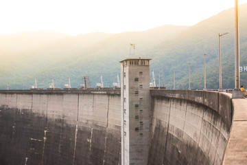 The power station at the Bhumibol Dam in Thailand.
