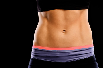 Muscular female abdomen