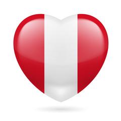 Heart icon of Peru